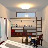 3DCGによる室内パースの制作の画像