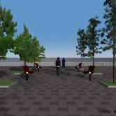 CAD・CG演習 II 小公園のデザインとフォトモンタージュの画像